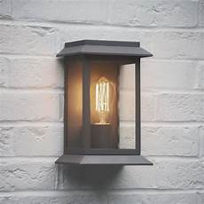 garden trading grosvenor outdoor wall light in charcoal