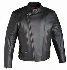 Blouson Cuir Vintage Guns Noir Homme Veste Moto