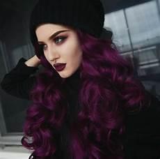 couleur cheveux violet foncé cheveux prune fonc 233 une tendance pour les femmes audacieuses