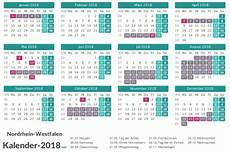 Neuer Feiertag Niedersachsen 2018 - ferien nordrhein westfalen 2018 ferienkalender 220 bersicht