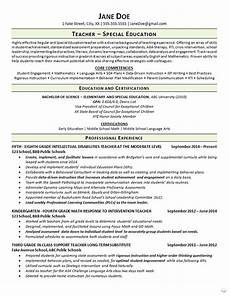 resume special education resource teacher special education teacher resume math language arts