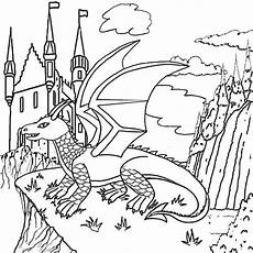 fantasy dragon coloring pictures to print and color in