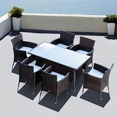 mobili sedie outsunny set mobili da esterno in pe rattan tavolo da