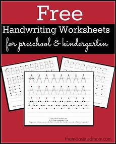 free printable handwriting worksheets for preschool kindergarten the measured mom
