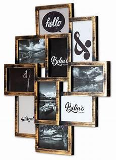 levandeo bilderrahmen collage 50x55cm 10 fotos 10x15cm