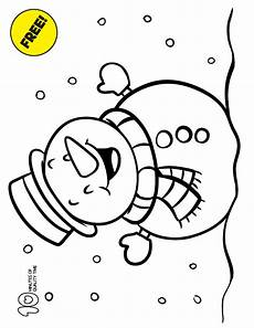snowman coloring page 10 minutes of quality time