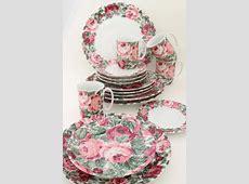 80s vintage Portugal ceramic dinnerware set, Block china
