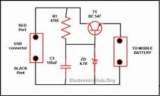 Wireles Usb Schematic Diagram by Usb Mobile Charger Circuit Mobile Phone Travel Charger