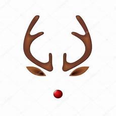 plantilla de reno reno con plantilla de nariz roja