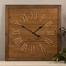 Wood Timber 12inch Square Vintage Wall large square wall clock 75cm fir timber industrial rustic
