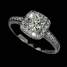 elegant jewelry 18k white gold gp swarovski crystal engagement wedding ring ebay