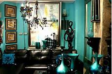 Purple And Gold Home Decor Ideas by Peacock Teal And Gold Room With Black Home