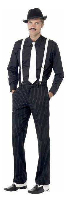 gangster hat tie braces spats and tash fancy dress mens