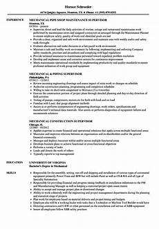 structural fabrication supervisor resume may 2020