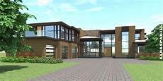 5 Bedroom Modern Home With High Ceilings Tyree House Plans