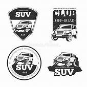 Suv Car Vector Emblems Labels And Logos Stock