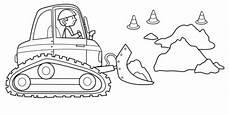 kostenlose malvorlage transportmittel bagger auf der