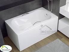 kleine badewannen 120 badewanne 120 x 70 cm sitzwanne rechteck sitzbadewanne mit sitz handgriffe acryl ebay