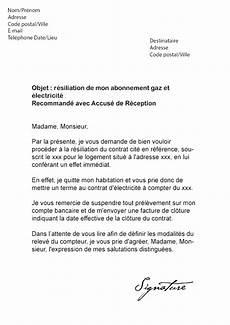 Changement D Abonnement Edf Lettre De R 233 Siliation Direct Energie Gaz Electricite