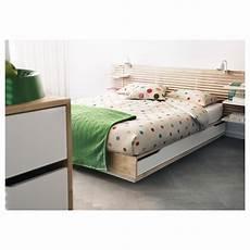Mandal Cadre Lit Avec Rangement Bouleau Blanc Ikea