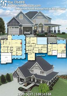 5 bedroom house plans with wrap around porch plan 77641fb 4 or 5 bedroom home plan with wraparound