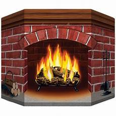 Brick Fireplace Standup Decoration Props
