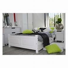 lit avec tiroir de rangement en bois massif 160x200 cm