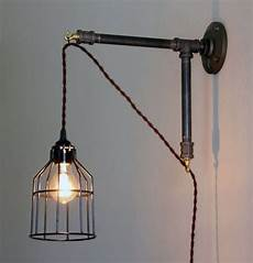 industrial style wall sconce iron pipe bracket with hanging light metal bracket hanging l