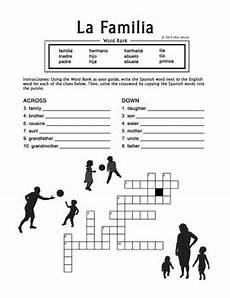 worksheets la familia 18350 la familia family crossword puzzle worksheet by miss