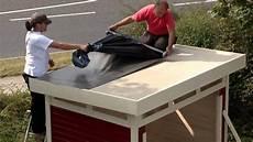 dach abdecken anleitung selbstklebende dachbahn