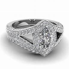 white gold marquise white diamond engagement wedding ring