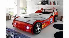 bett auto autobett energy bett 90x200 rot lackiert mit beleuchtung