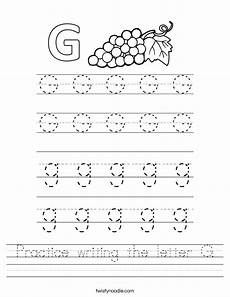 writing worksheets letter g practice writing the letter g worksheet twisty noodle