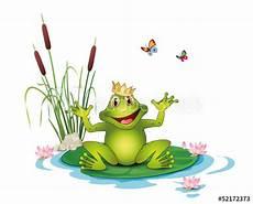 Ausmalbild Frosch Mit Krone Quot Frosch Mit Krone Seerosen Schilf Und Schmetterlinge