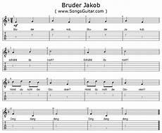 Bruder Malvorlagen Chords Bruder Jakob Noten Text Gitarren Tabulatur Playback