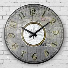 Retro Silent Wall Clock Vintage Home Decor Large