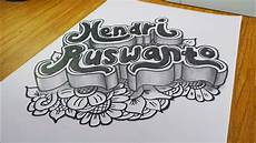 Doodle 3d Nama Hendri Ruswanto Gambar 3 Dimensi
