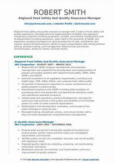 quality assurance manager resume sles qwikresume