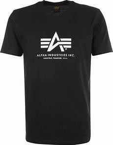 alpha industries basic t shirt zwart