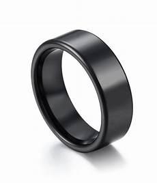 classic high polish black ceramic wedding band by tungstenrepublic