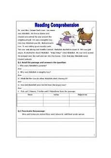 reading comprehension esl worksheet by asmajabbar