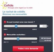 rachat de credit cofidis simulation demande pr 234 t personnel