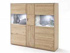Highboard Torrent 5 Eiche Bianco Massiv 154x140x39 Cm