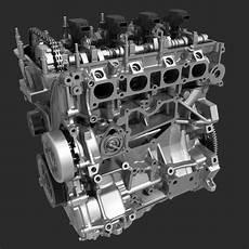 4 Cylinder Engine Block Cutaway 3d Model Max Fbx