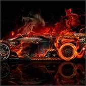 Dodge Viper SRT Side Super Fire Abstract Car 2014  El Tony