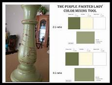 color mixing tool both chalk paint 174 and miss mustard seed milk pant the purple painted