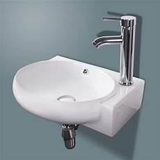 new bathroom ceramic vessel sink white porcelain corner wall mounted faucet ebay