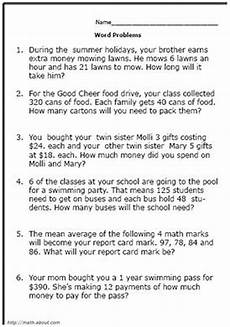 word problem worksheets grade 5 11038 pin on math