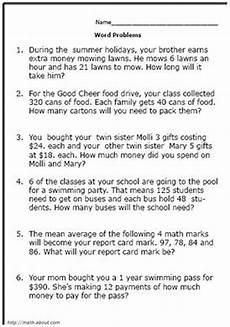 math word problems worksheet 5th grade 11245 pin on math