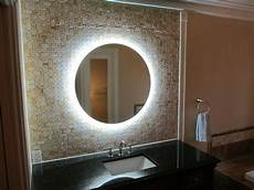 mam2d32 32 quot round side lighted vanity mirror wall mounted led makeup mirror ebay